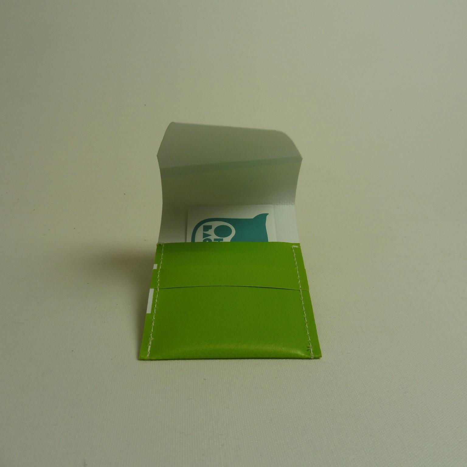 NESSIM étui à cartes de visite en bâche by Oh_la_bâche B ouvert
