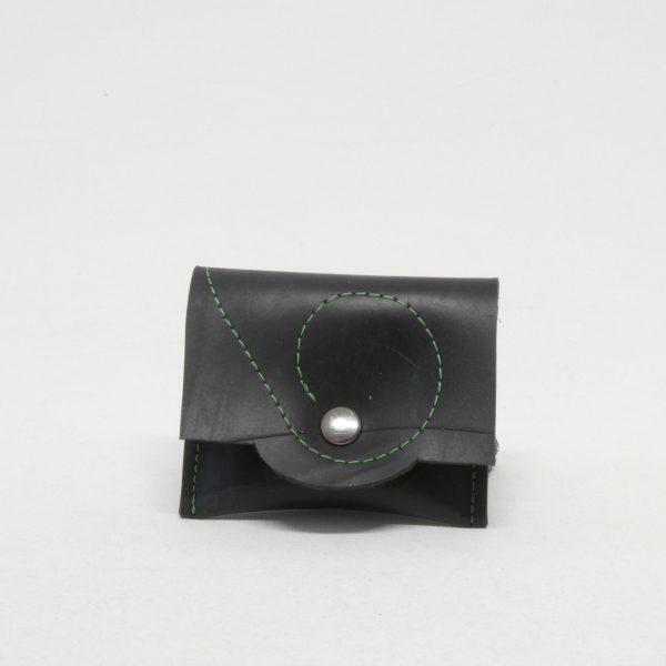 Oh la bâche ! LUDIVINE-Porte-monnaie-à-pression-noirvert-600x600 LUDIVINE Porte monnaie en chambre à air