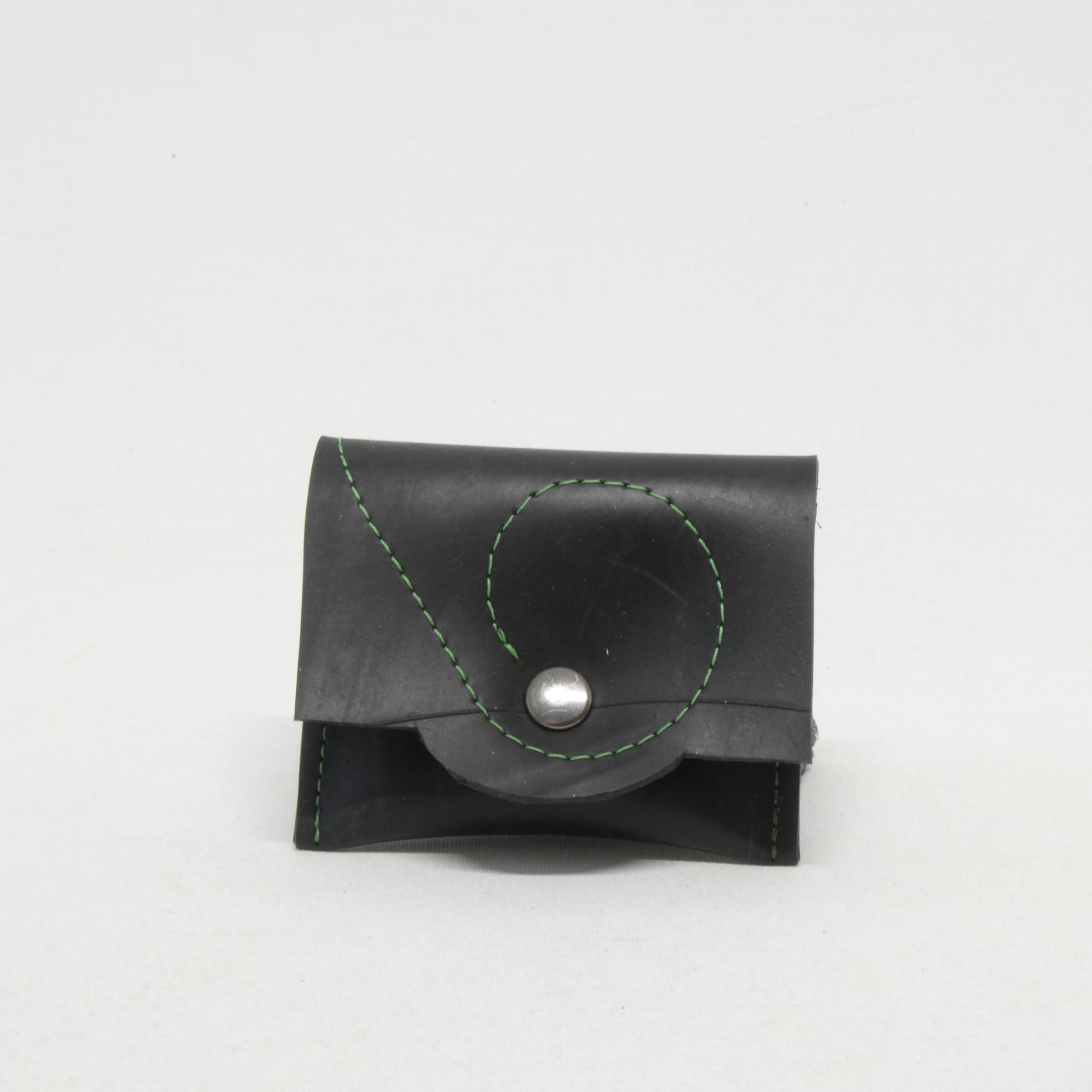 LUDIVINE Porte monnaie à pression noir:vert